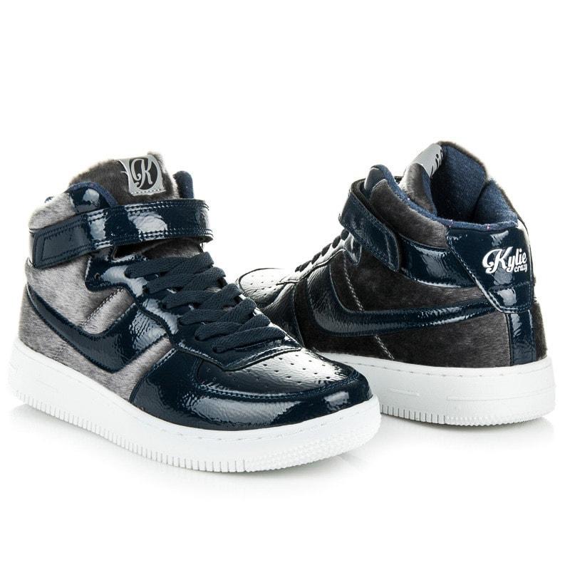 Kylie Lakované sportovní boty modré - 36