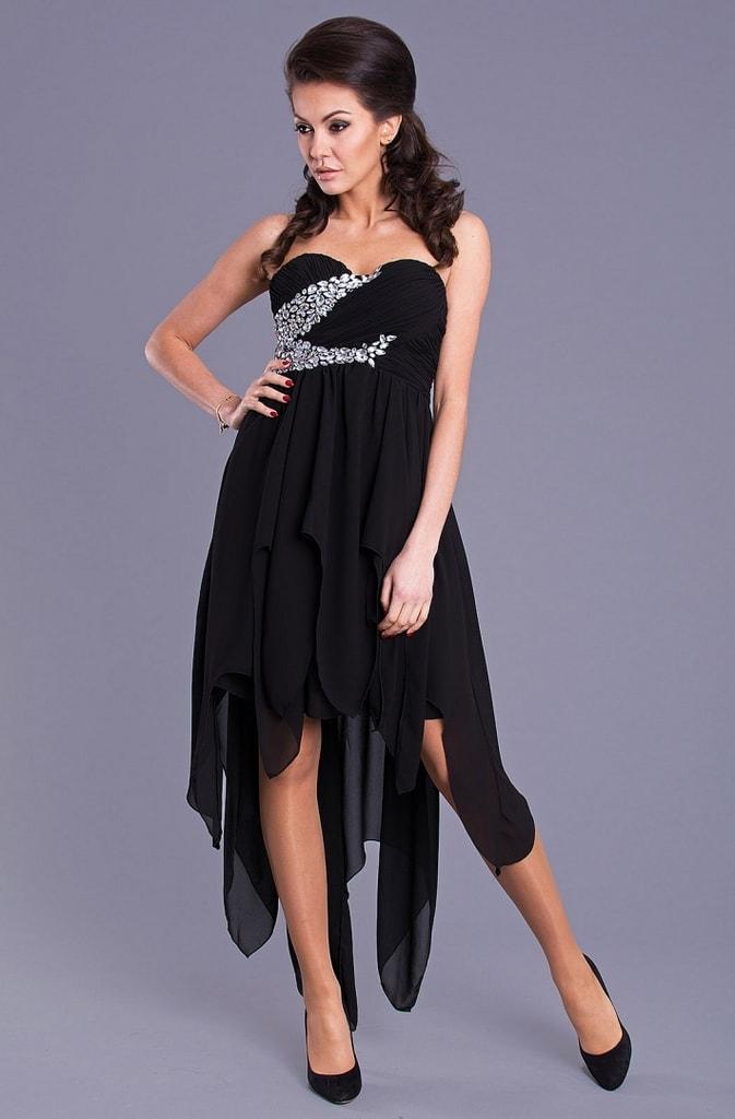 Eva&Lola Společenské černé šaty - S