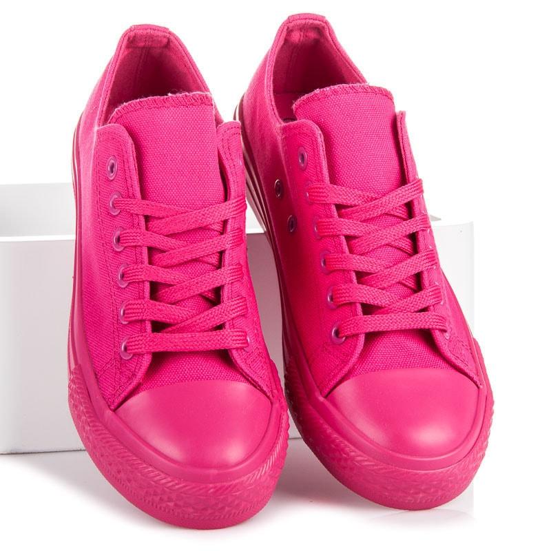 jiny Vázané nízké tenisky růžové - 37