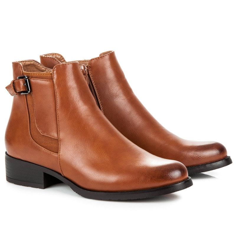 VICES new collection Camel kotníkové boty nízké - 36