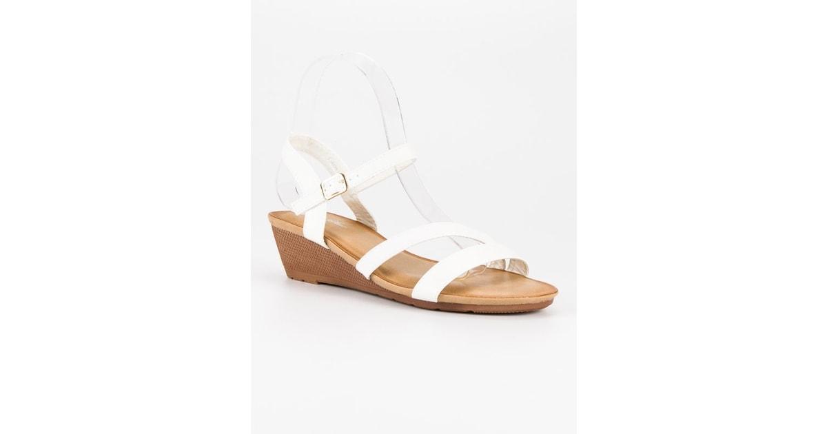 Pohodlné sandály na klínu bílé - Bello Star - Sandále 5ad627ff63