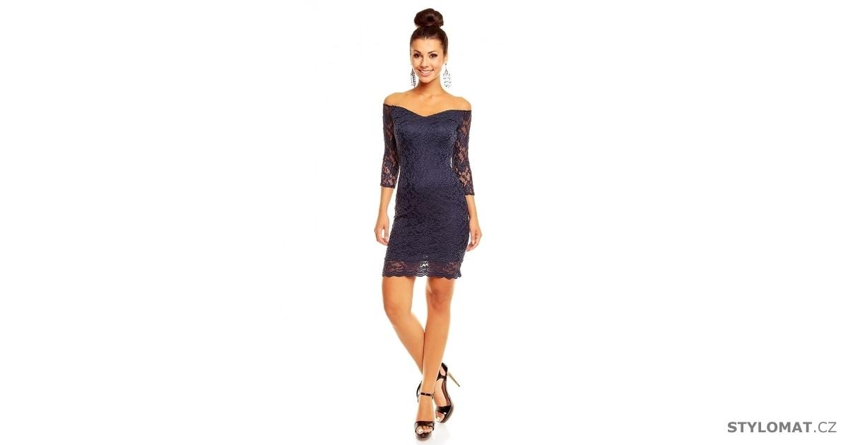 fce4eeaa0ce Společenské modré krajkové šaty - Mayaadi - Party a koktejlové šaty