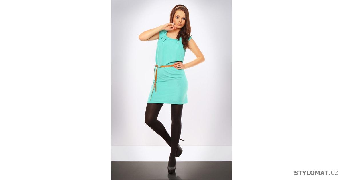 Dámské tyrkysové letní šaty - Italia moda - Krátké letní šaty 3a70f29d7f