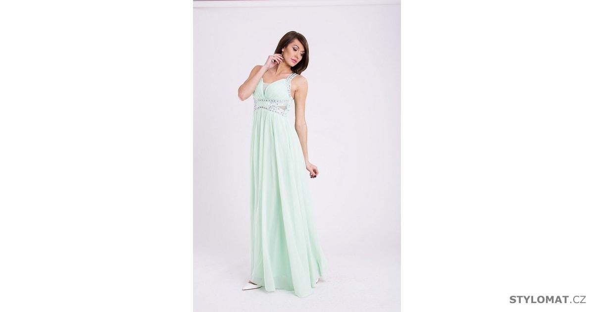 841e3e41e405 Eva a Lola šaty pistáciové - Eva Lola - Dlouhé společenské šaty