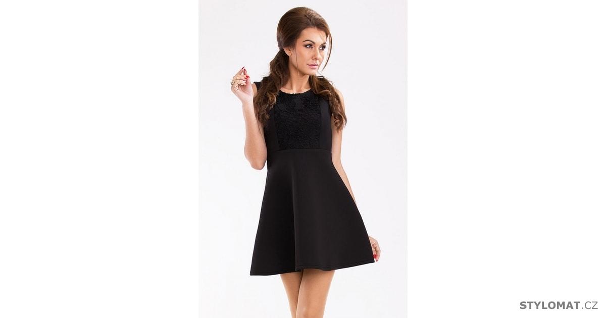c6c6d53ee1c Černé krátké šaty - Pink BOOm - Party a koktejlové šaty