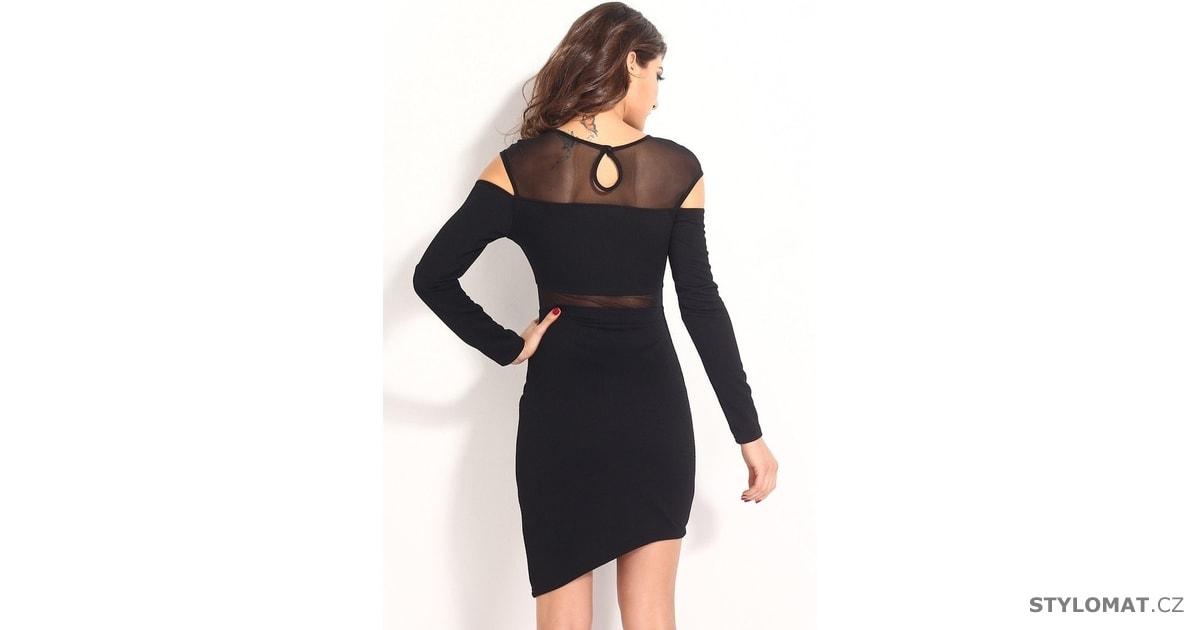Krátké svůdné černé šaty s dlouhým rukávem - Damson - Party a koktejlové  šaty 0562efe078