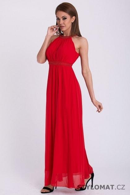 Červené dlouhé šaty bez rukávů - Pink BOOm - Dlouhé společenské šaty f40c967f72