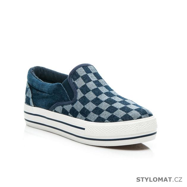 6ecbc4d3c8 Jeansové nazouvací boty - SINLY - Tenisky