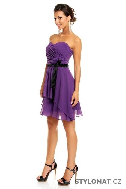 Dámské fialové koktejlové šaty - Mayaadi - Krátké společenské šaty 5849bb6929