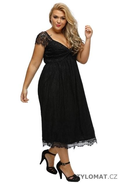 Dámské šaty XXL - Damson - Krátké společenské šaty ef9561fb70