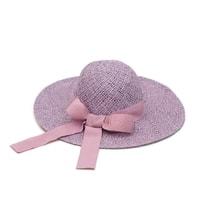 Fialový romantický klobouk