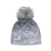 Čepice jiskřivý sníh šedá