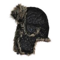 Zimní blyštivá čepice tmavá
