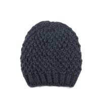 Teplá zimní čepice tmavě šedá