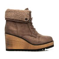Dámská zimní obuv na klínu hnědá