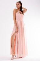 Romantické večerní šaty růžové 2b2c0728b1