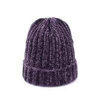 Dětská teplá zimní čepice fialová