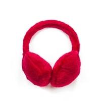Chlupaté klapky na uši červené
