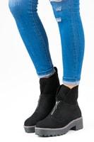 Kotníkové boty na zip černé
