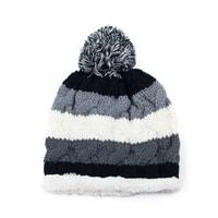 Teplá čepice s kožíškem šedá