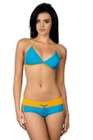 Dámské sportovní plavky Artis modré oranžové