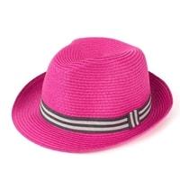 Měkký trilby klobouk na léto fuchsiový