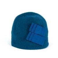 Elegantní dámský zimní klobouk modrý