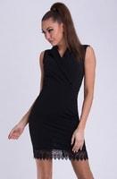 Dámské pouzdrové šaty v černé barvě