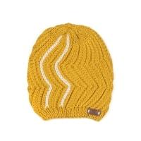 Pletená dámská čepice žlutá