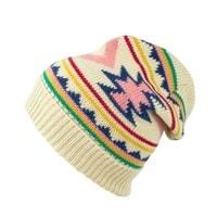 Zimní čepice v aztéckém stylu béžová