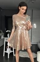 Dámské flitrované šaty zlaté