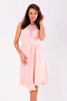 Krátké vypasované šaty růžové