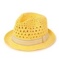 Měkký trilby klobouk žlutý
