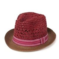 Měkký trilby klobouk vínový