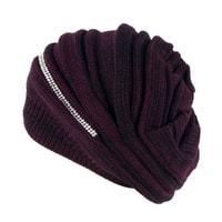 Trendy zimní čepice fialová