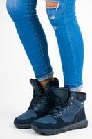 Dámské boty s kožíškem modré