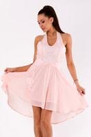 Růžové šaty bez rukávů