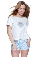 Dámské pyžamo Ovečka modré krátké