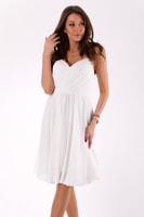 Elegantní šaty na ramínka bílé