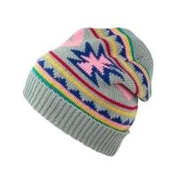 Zimní čepice v aztéckém stylu šedá