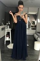 d9bc2c838c2 Dámské večerní šaty s krajkou modré