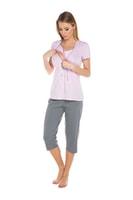 Těhotenské a kojící pyžamo Felicita růžové