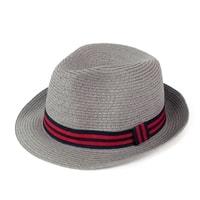 Měkký trilby klobouk na léto šedý