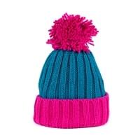 Dvoubarevná zimní čepice růžová