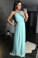 Dámské dlouhé plesové šaty světle modré