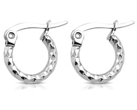 Náušnice kruhy ve stříbrné barvě