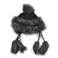 Zimní chlupatá čepice černá