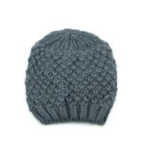Teplá zimní čepice šedá