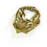 Folk, etnický šátek s třásněmi bílý