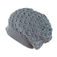 Zimní spadlá čepice šedá